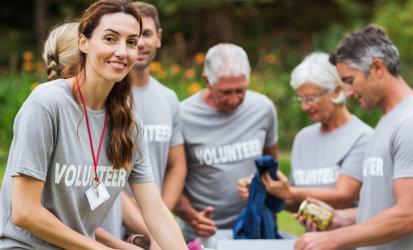 volunteer preparing their things to donate