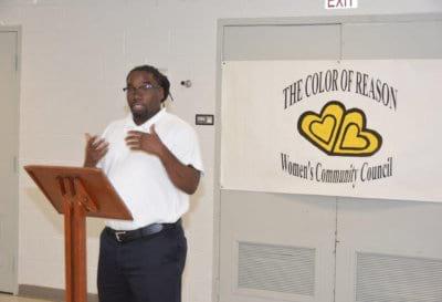 volunteer man having a speech